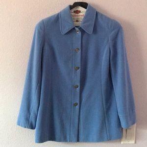 Vintage light blue Escada angora/wool jacket